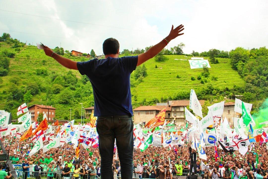 Matteo Salvini sfidal'Europa